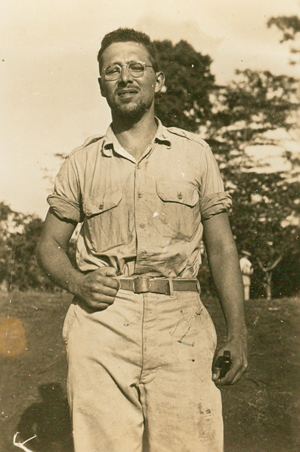 Edgar Villchur on base in the Philippines