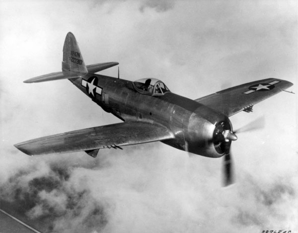 The P-47 Thunderbolt, a fighter plane for one person. Villchur and a pilot squeezed into the cockpit of one of one of these planes to check out the broken radio in flight